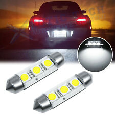 Error Free Xenon White Festoon 3-SMD LED Bulbs License Plate Light 6418 6411 C5W