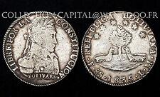 8 Soles 1835 LM. Bolivie. Bolivar. Argent/ Silver