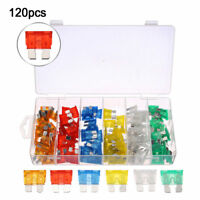 120pcs Assorted Car Fuse Auto Truck SUV Fuses Mini Blade Fuse Kits 5-30 AMP