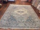 "Genuine Hand Knotted Indo Oushak Heriz Geometric Area Rug Carpet 8'2""x10'2"",56"