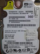 250gb Western Digital WD 2500 BEVS - 22ust0   hhcvjhbb   20 Oct 2007 #360