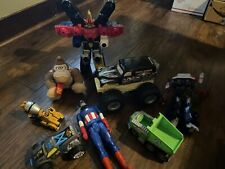 Mixed Resale Toy Lot Power Ranger Grave Digger Transformer. As Is.