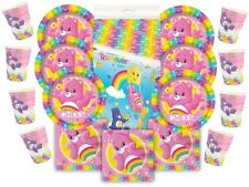 Care Bears Birthday Party Pack Pour 16, Serviettes Tasses Assiettes Table Cover