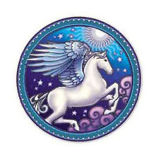 Mandala Art Pegasus Winged Horse 2 Side High Quality Circle Hippy Window Sticker
