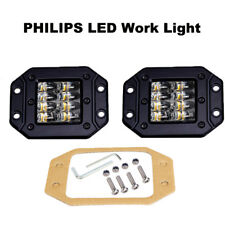 4 Row Spot Flood COM Beam LED Pods 48W PHILIPS LED Work Light Flush Driving Lamp