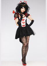 Womens Deluxe Glitter Queen of Hearts Costume