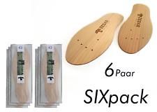 6er-Pack ZEDAR Zedernholzsohlen gegen Fußgeruch Zedern-Sohlen Einlegesohlen