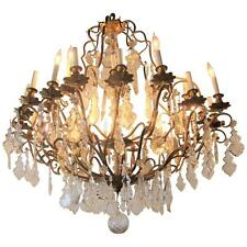 Bronze and Crystal Palatial Thirty-Light Chandelier (101-2608)