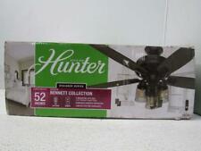 """Hunter Bennett 52"""" 5 Blade 3 Light Ceiling Fan with Led Light Kit 54189"""