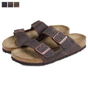 Women Birkenstock Arizona Oiled Leather Adjustable Slide Sandal New