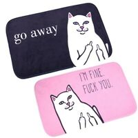 Animal Cat Go Away Printing mat Home Decoration Non slip Floor Cat Mat Plsei