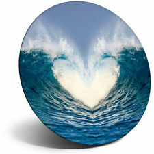 Awesome Fridge Magnet - Wave Heart Ocean Surf Cute Cool Gift #2483