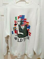 Garth Brooks 1993 Vintage World Tour Sweatshirt Flag Blue Rose Size XXL Made US