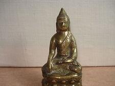 Petite Statuette BOUDDHA Assis en Bronze