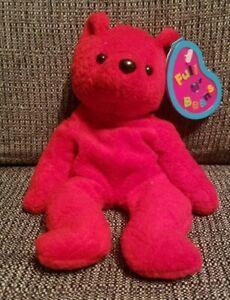 Valentine Gift 1999 Avon Full O'Beans February Birthstone Amethyst Cody The Bear