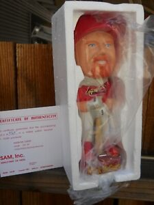"ST. LOUIS CARDINALS  MARK MCGWIRE 8.5"" BOBBLE HEAD IN BOX   SAM #9325 WITH CERT"