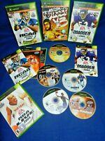 Xbox;Madden NFL 2005,NCAA Football 2005/Top Spin,w/Mans,NBA Street V3,NBA Live,+