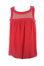Studio M New Red Sleeveless Chiffon Bubble Top M $78