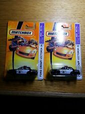 Matchbox Ford Crown Victoria #26 Highway Patrol Diecast CHP Car Lot of 2 MOC.