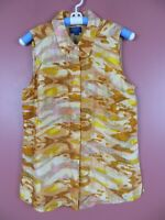 TB05810-NEW PENDLETON Womens 100% Silk Sleeveless Blouse Multi-Color Geo Sz L