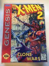X-Men 2 - Sega Genesis - Replacement Case - No Game