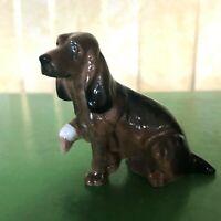 ROYAL DOULTON DOG COCKER SPANIEL MODEL  K 9A SMALL BROWN & BLACK GLOSS PERFECT