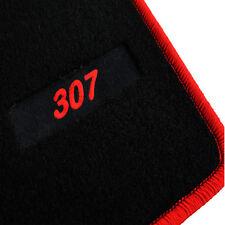 TAPIS SOL PEUGEOT 307 & SW 2.0 16S 2.0 HDI 1.6 16 MOQUETTE LOGO ROUGE SPECIFIQUE