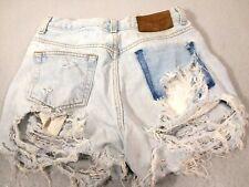 Calvin Klein High Waist Denim Shorts Women Size 4 Jean Cut Distressed 3.19