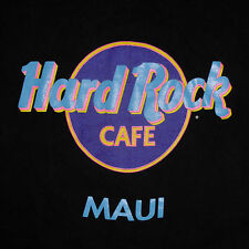 vtg Hard Rock Cafe Maui T-Shirt Large Early 90s Logo Hawaii Black Made in USA