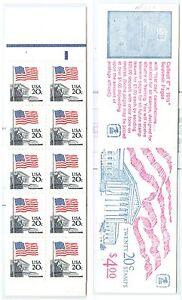 US 1896b Flag Over Supreme. Court Booklet $4 MNH BK140a plate # 2