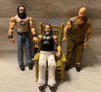 WWE Mattel Wyatt Family Wrestling Figure Bray Erick Rowan Luke Harper w/Chair