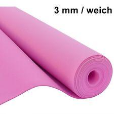 Filz Taschenfilz Basteln 0,5lfm Meterware 3mm stark 1,5m breit weich soft Rosa