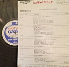 RADIO SHOW: LIVE FROM GILLEY'S  8/7/82 KIERNAN KANE  LIVE IN CONCERT w/12 TUNES