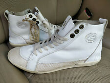 ENERGIE Authentic Vintage Mens Leather Sneakers Shoes Trainers White Deadstock