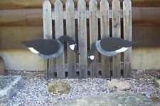 Vintage Canada Goose Silhouette Wood Decoys - Pair