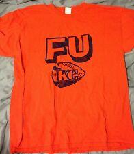 RARE! Vintage Denver Broncos Collectible Orange T-Shirt FU KC Chiefs! BRONCOS D!