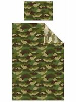 CAMOUFLAGE ARMY DUVET COVER SET REVERSIBLE MILITARY DESIGN 2 in 1