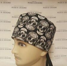 SKULLS  / MEN'S  SCRUB CAP/SURGICAL HAT
