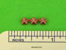 "Bronze Star 3/16"" 3 on Ribbon Bar Medal Attachment Device Made In USA 3 in a row"