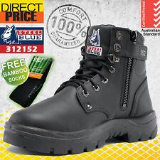 Steel Blue Work Boots Argyle 312152 Black Zip Side Safety Steel Toe NEW