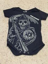 Sons of Anarchy Reaper Baby Toddler Boys One Piece Bodysuit 12-18 Months