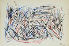 ABSTRACT. MIXED TECHNIQUE ON PAPER. EVARISTO VALLES ROVIRA. 1961