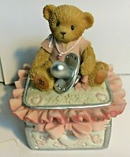 Ultra Very Rare Cherished Teddies 114233 Baby Girl & Pacifier Covered Box Nib 9