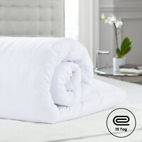 LUXURY SOFT WINTER WARM DUVET QUILT SINGLE,DOUBLE,KING SIZE 15 TOG OR PILLOWS