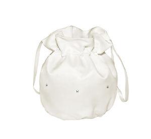 Satin Holy Communion Pouch/Bridal Bridesmaid Dolly Bag/Girl Prom Handbag,Crystal
