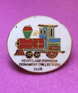 1994 Heartland Express Train Ornament Collectors Club Train Ornament Pin