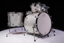 DW Design Series 4pc Drum Set Silver Sparkle Lacquer