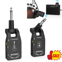 ammoon 6CH Wireless Guitar System 2.4G Rechargeable Transmitter Receiver N3N7