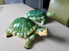 2 Vintage Ceramic Turtles