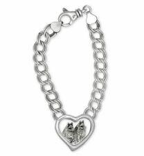 Schipperke Jewelry Sterling Silver Schipperke Bracelet Handmade Dog Jewelry SC6-